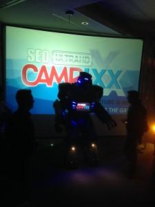 Eröffnung der Campixx mit riesigem Roboter